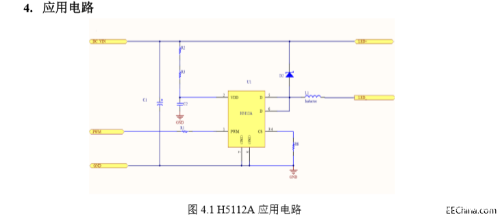 Design of LED Driver IC based on a buck constant current LED