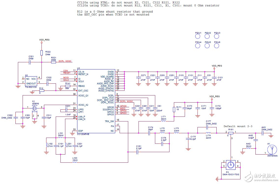 Refer to the design circuit diagram for the RF layout suitable for 420-470mhz