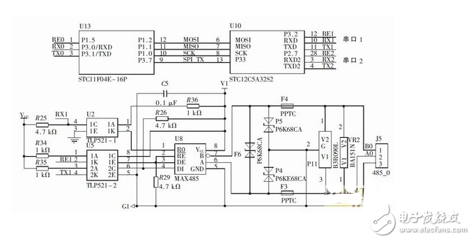Interface circuit design of intelligent gateway monitoring system for fire indicator