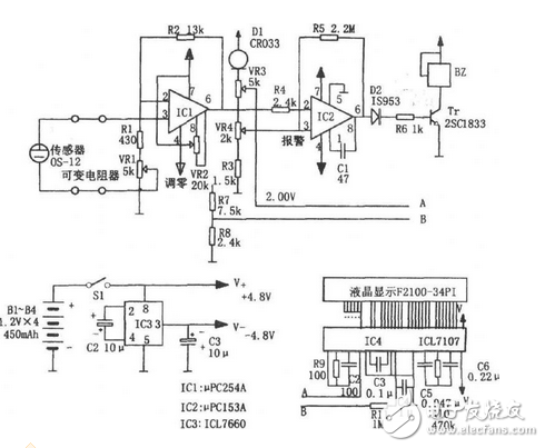 Design of wearable anoxia monitoring circuit