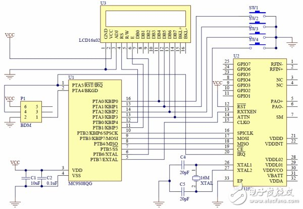 Circuit design of wireless controller system based on low end microcontroller