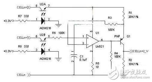 Schematic diagram of voltage detection and interface circuit design