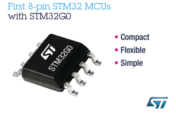 First 8-pin STM32 microcontroller released
