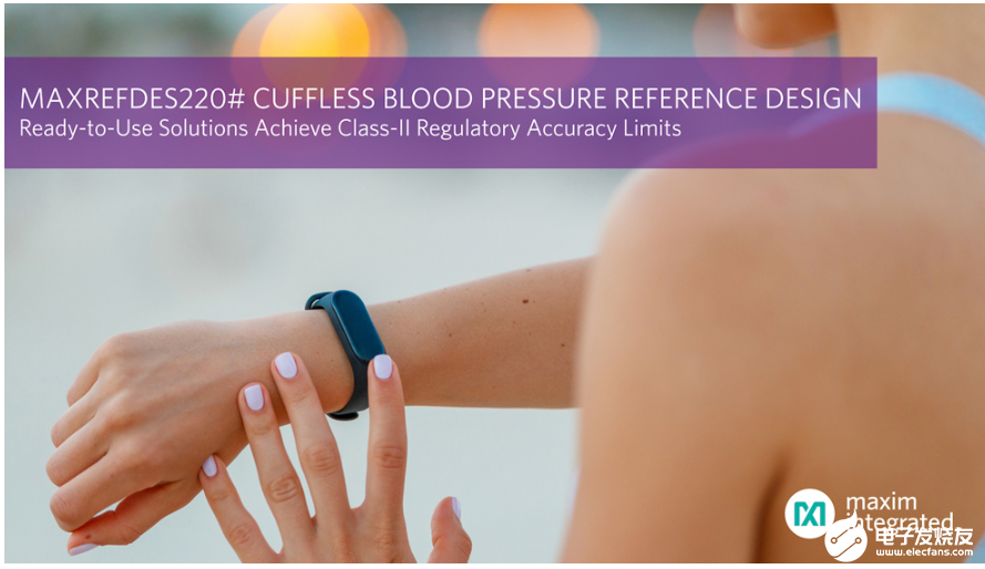 Maxim released a cuff less blood pressure measurement scheme meeting class II medical accuracy standard