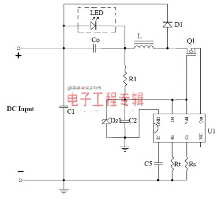 How to realize constant current control of LED lighting circuit