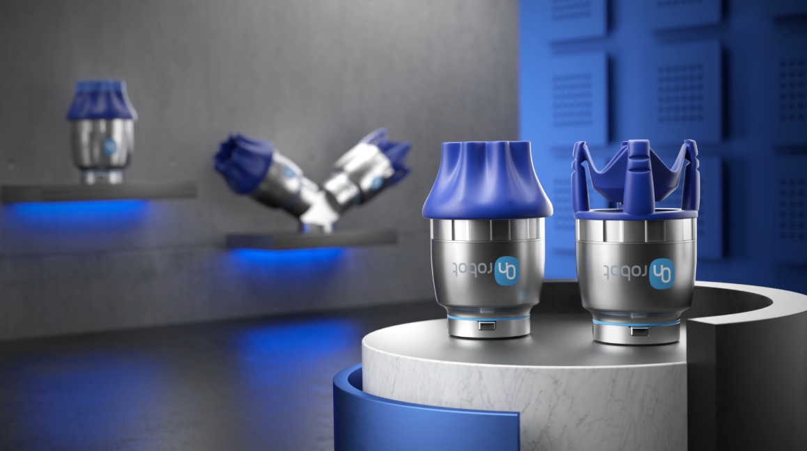 Onrobot flexible gripper provides a highly flexible, food grade certified solution for difficult handling applications