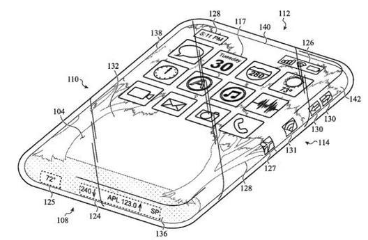 Apple is developing an all glass iPhone with a touch screen that can be used as a screen on any side