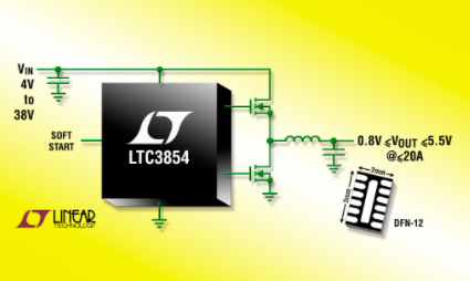 Performance characteristics and application of Synchronous Step-Down Switching DC / DC controller ltc3854