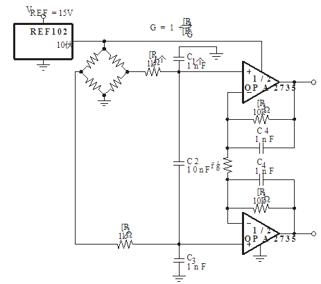 Performance characteristics and application of high voltage zero drift precision amplifier opa734 / 5