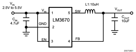 Performance and application range of micro DC / DC converters lm3670 and lm3671