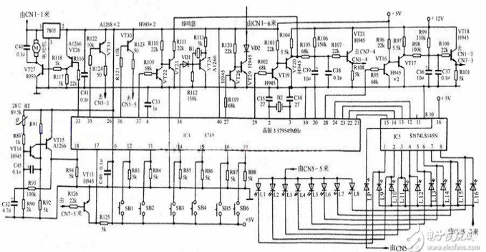 Electric circuit diagram of Midea induction cooker