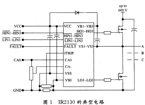 Design of power driving circuit of Brushless DC motor based on IR2130 driving chip