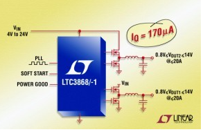 Performance characteristics and application range of step-down DC / DC controller ltc3868 / - 1