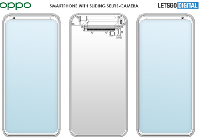 Oppo demonstration front lens can slide horizontally related patents