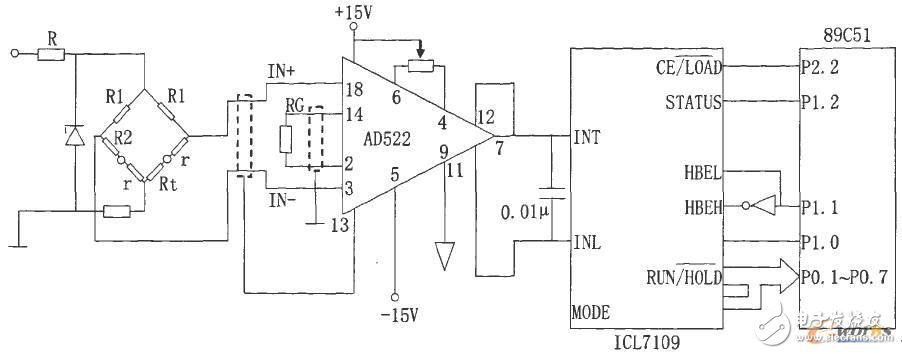 Hardware circuit design of temperature detection system based on AT89C51 single chip microcomputer