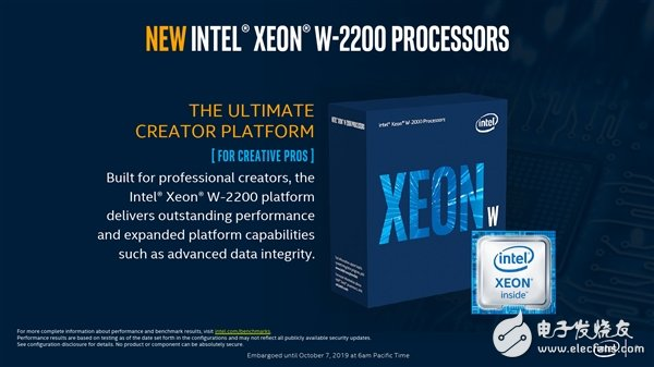 Intel introduces Xeon w-2200 series workstation products, AI reasoning is up to 2.2 times faster than the previous generation