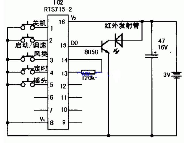 Remote control electric fan maintenance circuit diagram