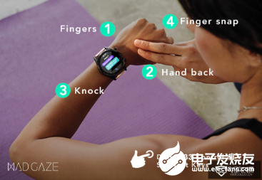 Mad gaze bone conduction smart watch crowdfunding precise gesture playing with AR / VR