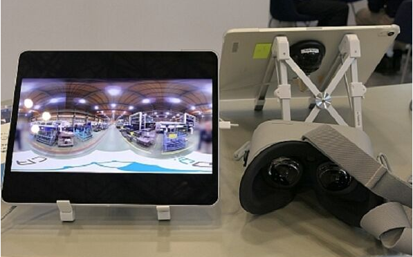 Japan caddie company uses VR technology to show the scene of manufacturing factory