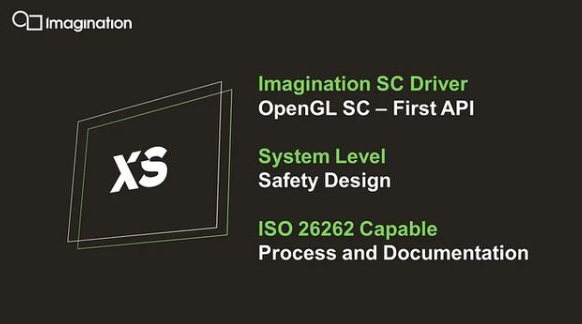 Imaging introduces the most advanced XS graphics processor (GPU) intellectual property (IP) products in the automotive industry