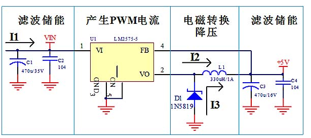 Circuit schematic diagram and PCB design of regulated power supply based on lm7805