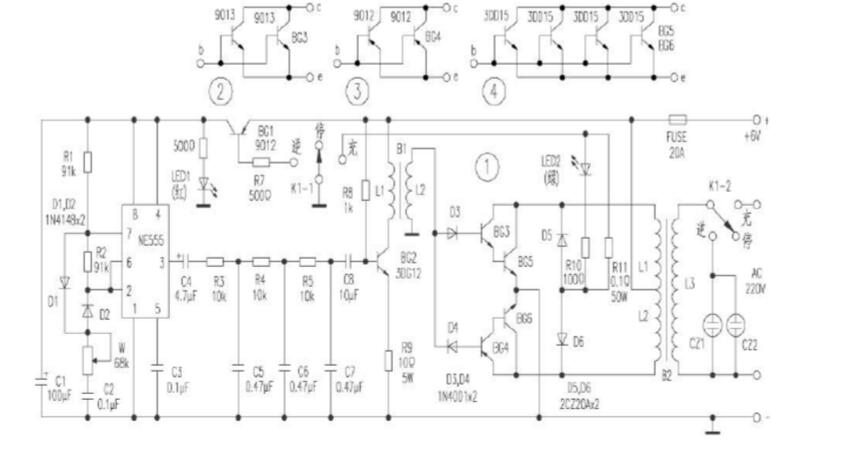 555 for inverter circuit diagram (four 555 for simple high ...