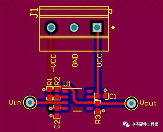 How to arrange the circuit board of operational amplifier correctly