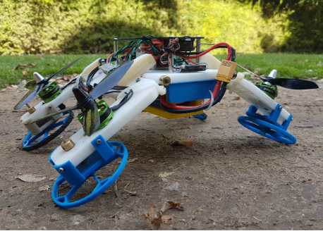 The robot can not only run but also fly, which is very simple