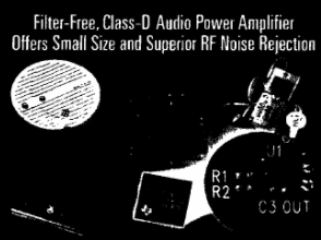 Performance characteristics and application of class D audio power amplifier TPA2005D1