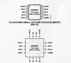 Performance and application of low distortion fully differential amplifier ad8351